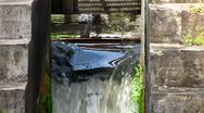 Stock Video Footage of Anweiler am trifels nostalgic water mill wheel Rhineland-Palatinate