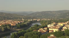 Aerial view of Florence city, Italy Stock Footage