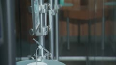 Instruments in a medical research lab - stock footage