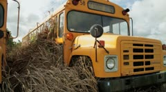 school bus budget cuts - stock footage