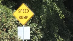 Speed Bump Sign Stock Footage