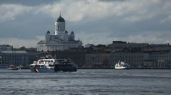 Helsinki Cityscape, Finland, Cathedral, Market Square, Swedish Embassy, Harbour Stock Footage