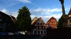Ladenburg old town Neckar-Odenwald Stock Footage