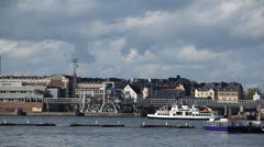 Helsinki Cityscape, Sail Boats, Uspenski Cathedral, Gulf of Finland, Harbour Stock Footage