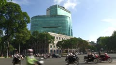 Vietnam: Diamond Plaza in Down Town Ho Chi Minh City Stock Footage