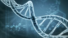 Rotating DNA with formula background Stock Footage