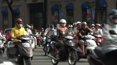 Vietnam: Motorcycle Traffic in HCMC Stock Footage