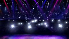 Monthly Discount concert camera flash light for musical concept Stock Footage