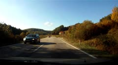 Car driving time laps Autumn Stock Footage