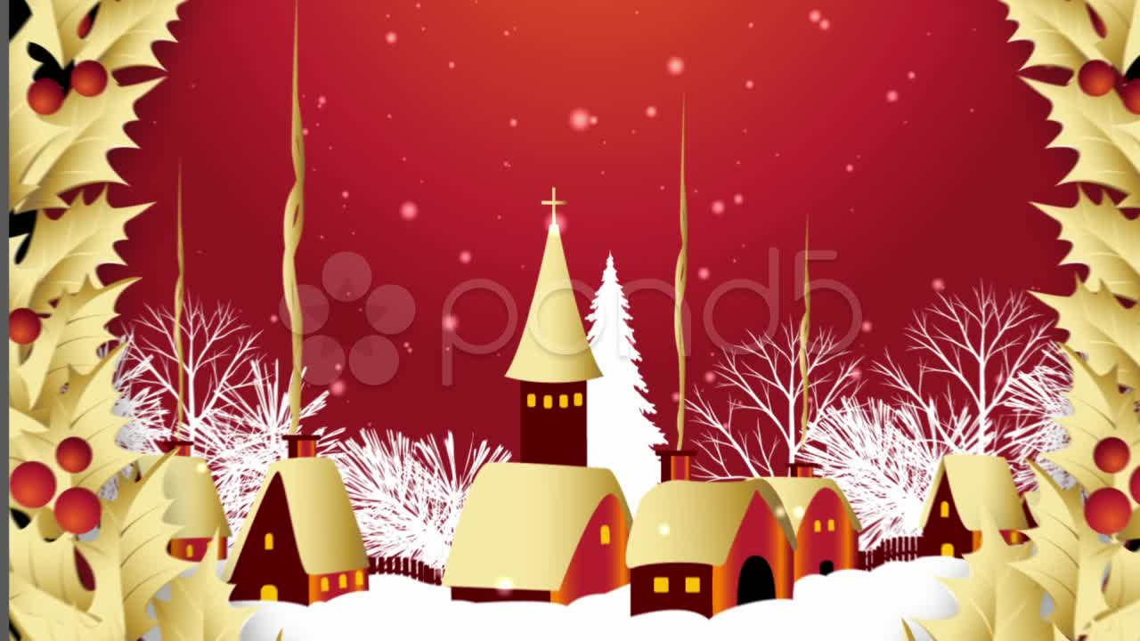 After Effects Project - Pond5 Christmas Snowy Scene After Effects Template  ...