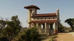 Small Chapel on Hillside - stock footage