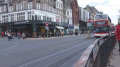 Edinburgh Buses Drive Past On Princes Street Edinburgh Scotland - stock footage