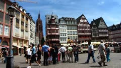 Frankfurt am Main Römer square or Romer square Stock Footage