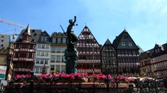 Frankfurt am Main Römer square or Romer square Germany Europe - stock footage