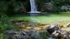 Waterfall at Mount Olympus the Home of Gods,  Greece (wide view) Stock Footage