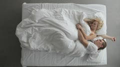 Sleeping couple Stock Footage