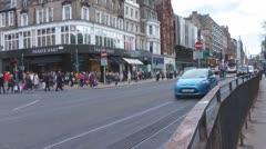Princes Street Edinburgh Scotland Stock Footage