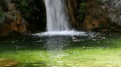 Waterfall at Mount Olympus the Home of Gods,  Greece Stock Footage