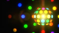 Stock Video Footage of Retro Disco Ball