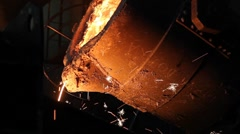Melting Iron in the Foundry - stock footage
