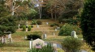 Old Town Cemetery on Cape Cod 10 Stock Footage