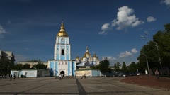 St Michael's Golden-Domed Monastery, Mikhaylovsky Zlatoverkhy Monastyr Stock Footage