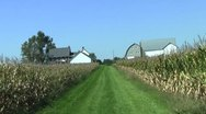 Corn field and barn Stock Footage