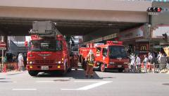 Firemen 3 - Earthquake Rescue. Tokyo, Japan. Stock Footage