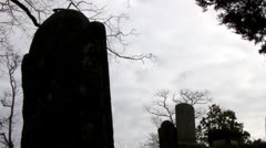 Old Town Cemetery on Cape Cod 12 Stock Footage