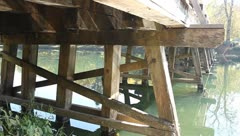 Under the bridge - stock footage