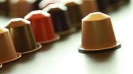 Coffee capsules with diferent colours Stock Footage
