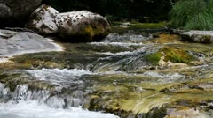Water spring at Mount Olympus the Home of Gods,  Greece Stock Footage