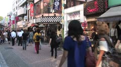 Japanese shoppers in Harajuku 4 - Timelapse Stock Footage