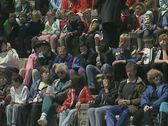 People sitting in amphitheatre Stock Footage