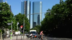 Frankfurt am Main Deutsche Bank Stock Footage