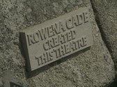 Sign for Rowena Cade at amphitheatre Stock Footage