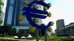 European Central Bank Frankfurt am Main EZB ECB Stock Footage