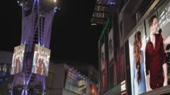Video Walls and Light Tower - Nokia Theater - stock footage