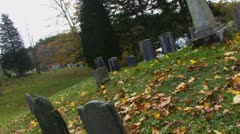 Old Town Cemetery on Cape Cod 32 Stock Footage