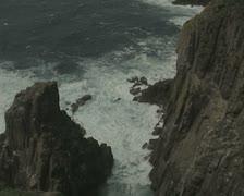 Sea at coastal cliff base Stock Footage