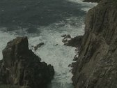 Stock Video Footage of Sea at coastal cliff base
