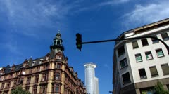 Frankfurt am Main urban scene building Stock Footage