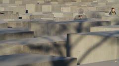 Concrete columns walking Stock Footage