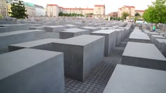 BERLIN - June 27, 2011, The Holocaost monument in Berlin Stock Footage