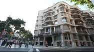 Stock Video Footage of Guadi House - Barcelona