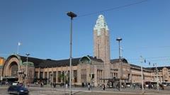 Helsinki Central Railway Station, Finland, VR Commuter Rail Network Stock Footage