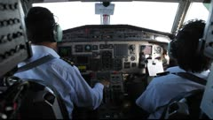 Cockpit of Airplane with Pilots - Rare Shot - stock footage