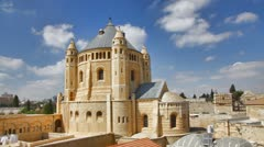 4K UHD Basilica Church of the Dormition, Jerusalem time lapse Stock Footage