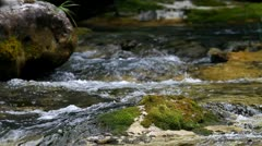 Water spring at Mount Olympus the Home of Gods,  Greece (closeup) Stock Footage