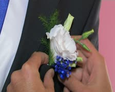 Groom's Boutonniere Stock Footage